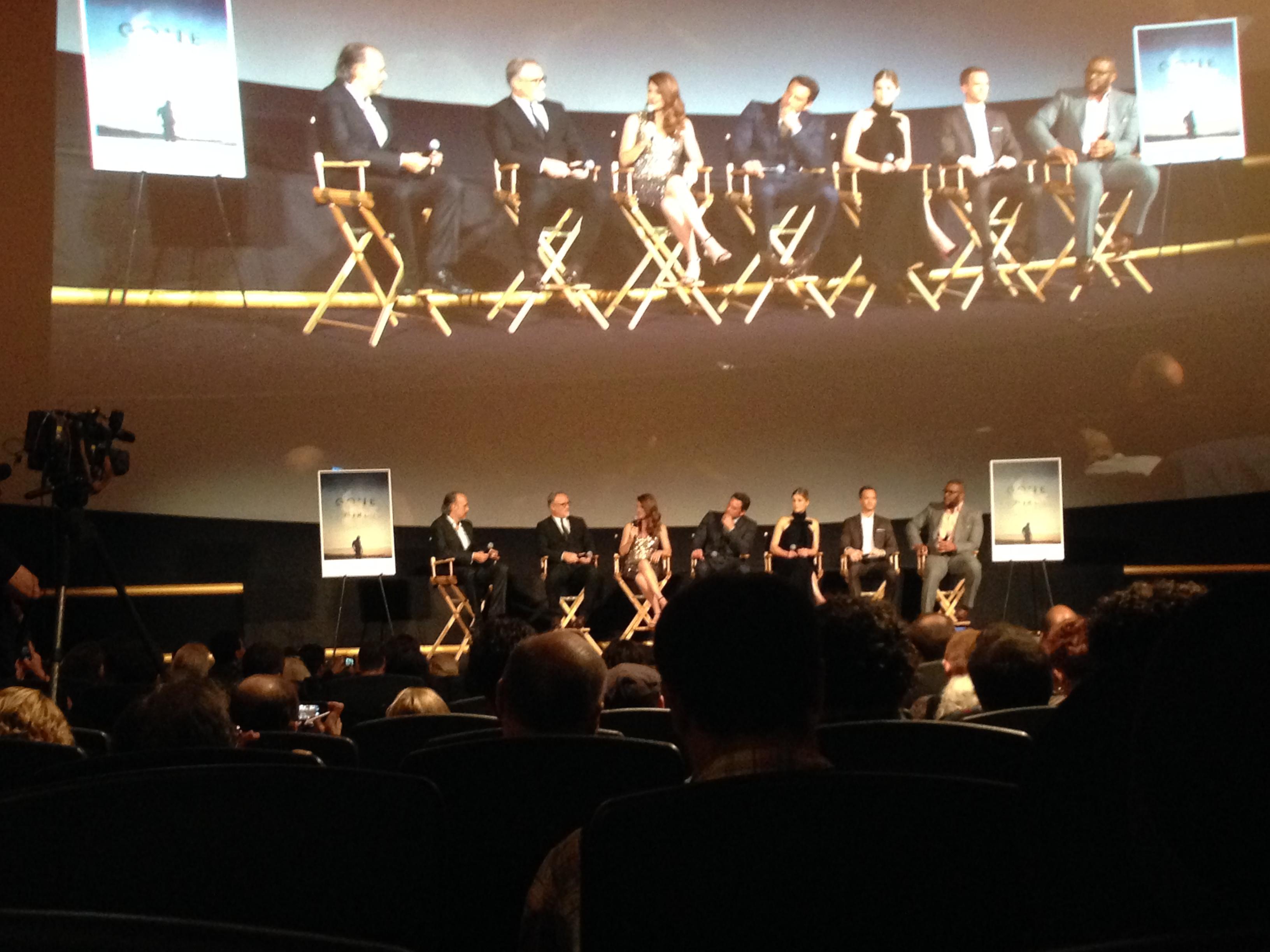 """Kent Jones, David Fincher, Gillian Flynn, Ben Affleck, Rosamund Pike, Neil Patrick Harris and Tyler Perry til verdenspremiere på """"Gone Girl"""" på New York Film Festival. Foto: Freja Dam"""